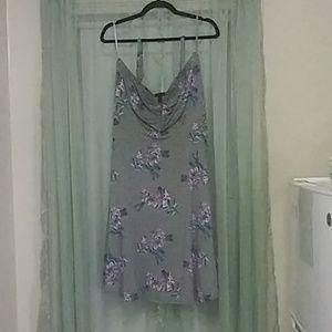 Torrid jersey floral strapless dress size 1(14-16)